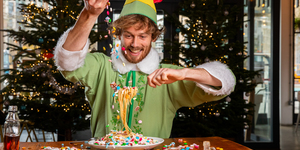 Scoff Buddy The Elf's Favourite Dish Of Candy Spaghetti This Weekend - While Watching Elf