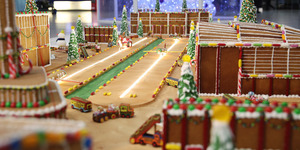 Someone's Built A Tiny Heathrow Airport Out Of Gingerbread