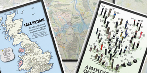 Get Prints Of Anglo-Saxon London And Fake Britain Maps