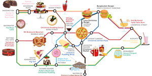 Alternative Tube Map: Quirky Christmas Food