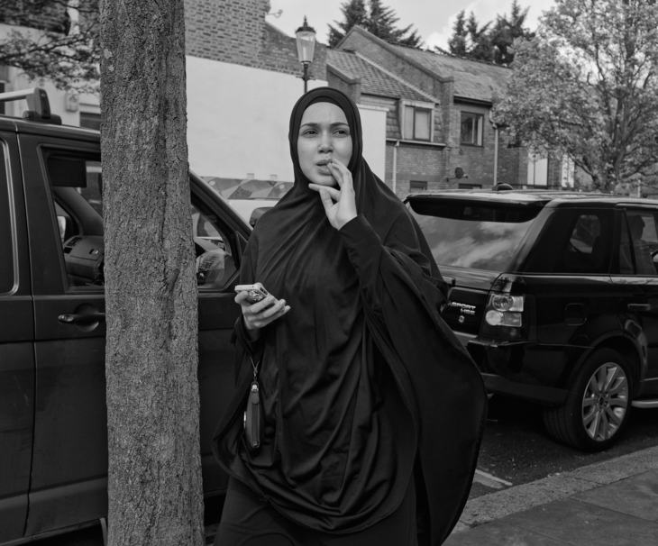 Woman in hijab, Notting Hill