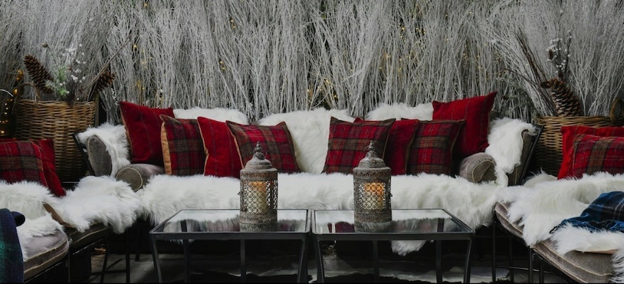 Churchill's Highlands Hideaway at Churchill's Bar and Terrace, one of the best winter pop ups in London