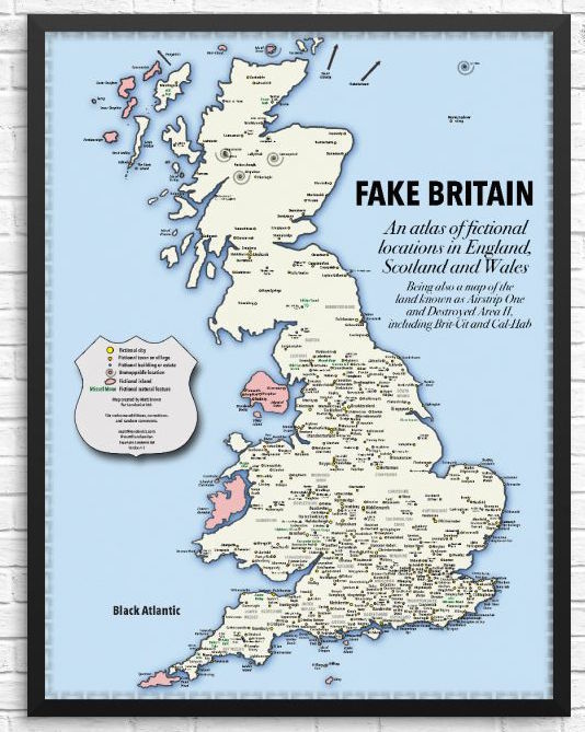 London Great Britain Map.Get Prints Of Anglo Saxon London And Fake Britain Maps Londonist