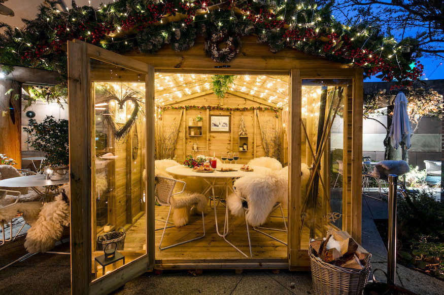 Lodge d'Argent at Coq d'Argent: best Christmas cosy winter pop ups in London