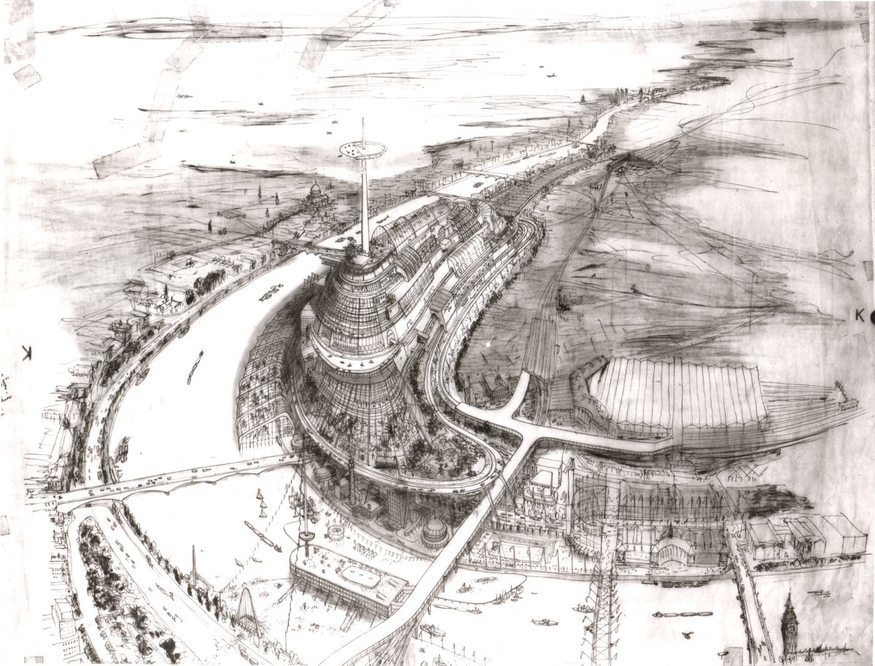Misha Black's proposal for the South Bank.