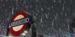 Photos Of Tube Stations After Yesterday's Snow Flurry