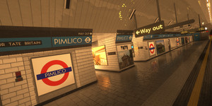 Pimlico Tube Station... Made In Minecraft