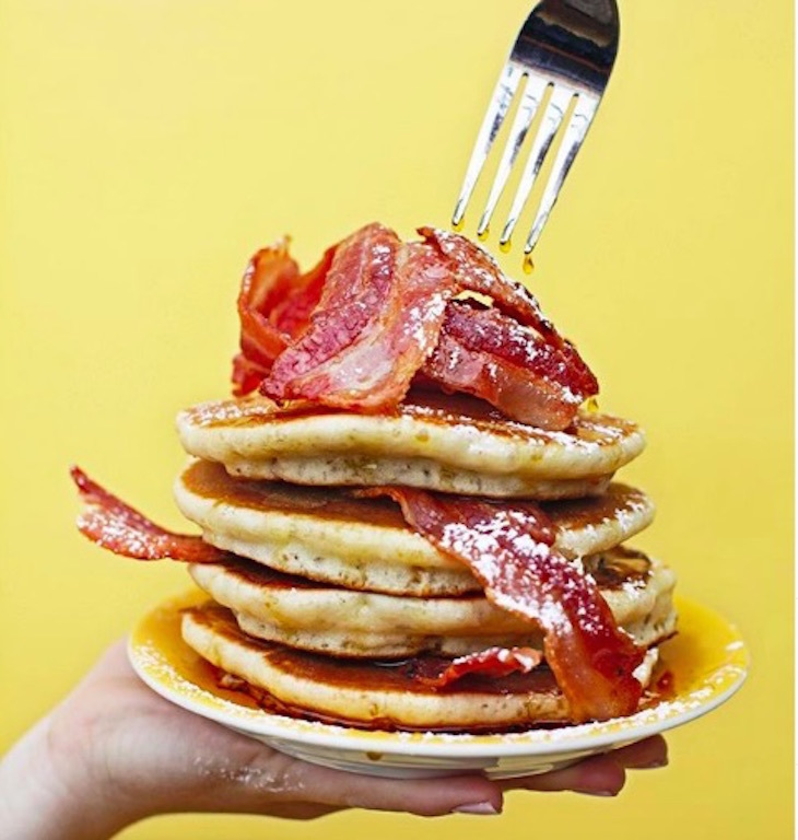 Where to get the best pancakes in London: pancakes at The Breakfast Club