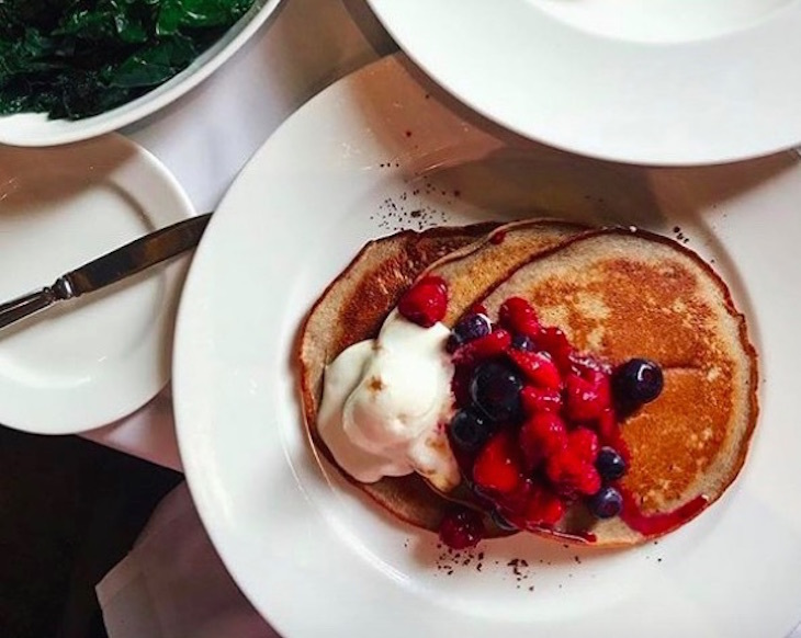 Where to get the best pancakes in London: pancakes at Christopher's, Covent Garden