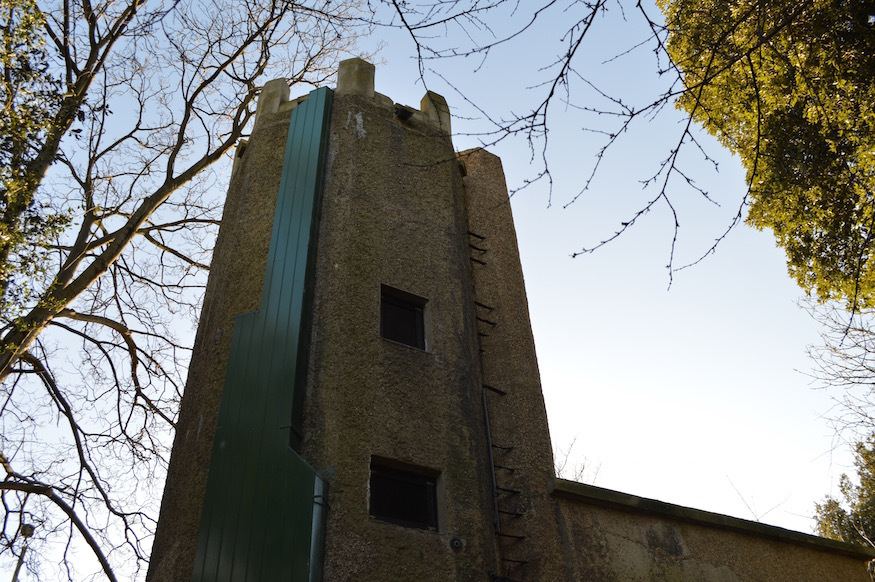 A concrete water tower in Finchley. Is it not lovely?