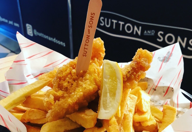 Vegan fish and chips at Sutton and Sons, Hackney, London: guide to vegan food, drink and restaurants in London