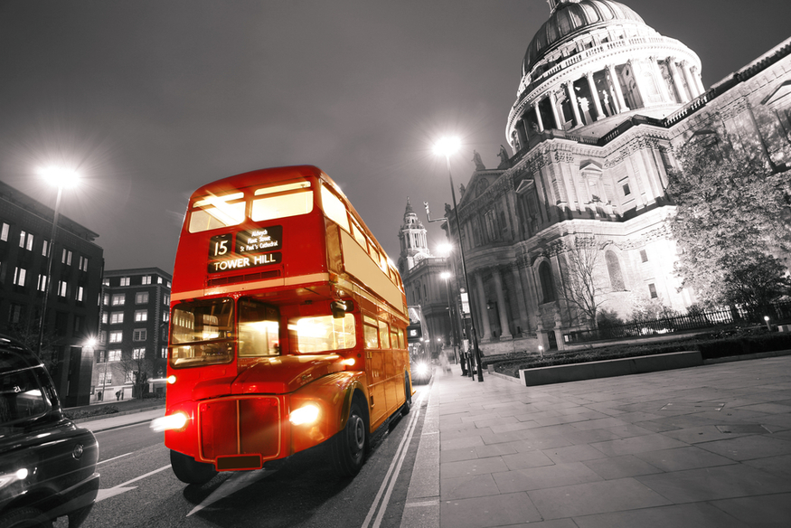 A London Routemaster bus