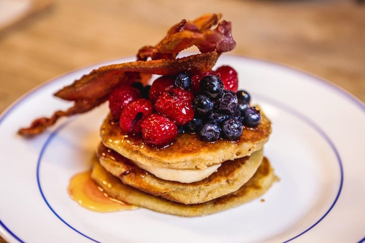 Where to get the best pancakes in London: pancakes at The Book Club