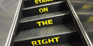 Why Don't We Stand On The Left Of Escalators?