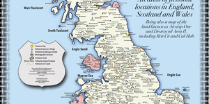 Fake Britain: A Map Of Fictional Locations In England, Scotland And Wales