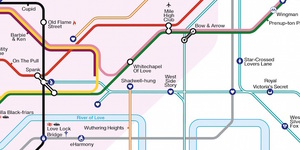 This Valentine's Themed Tube Map Is Enough To Break A Pun Artist's Heart