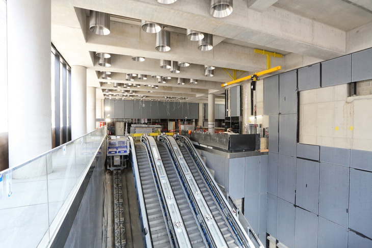 Crossrail escalators