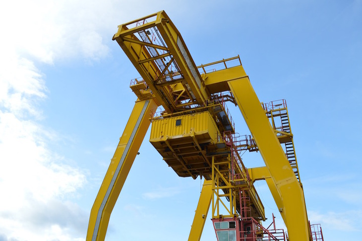 Container crane looming large