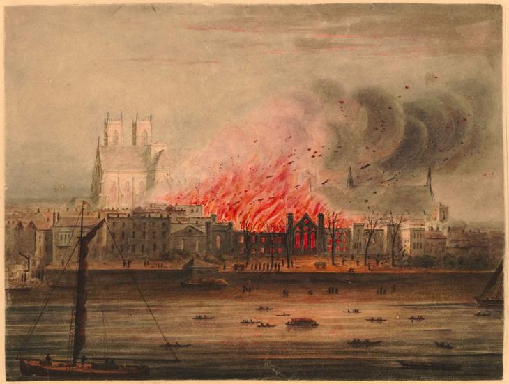 Houses of Parliament burn down. Jeez, that looks bad.