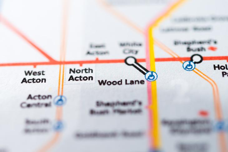Wood Lane on tube map