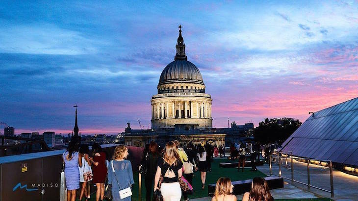 Madison's rooftop bar has one of the best views of London