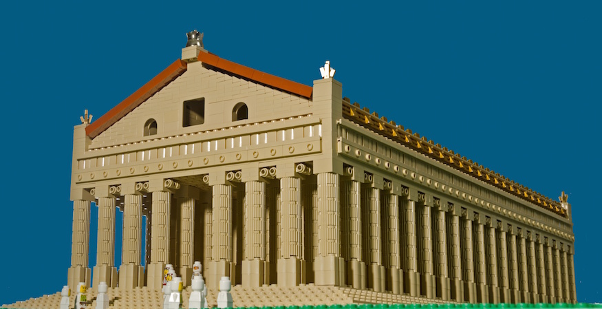 Temple of Artemis in Lego.