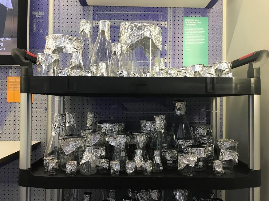 Glassware at Crick Institute