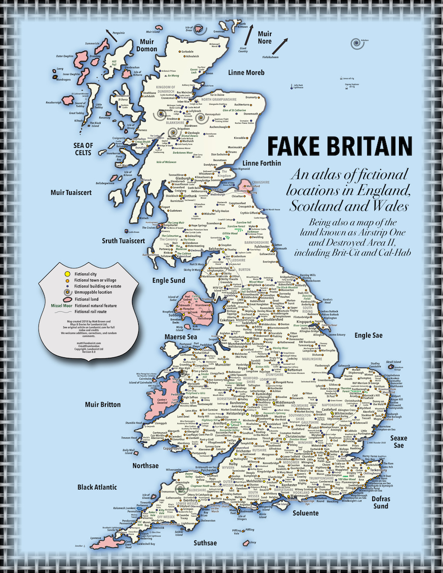 Fake Britain: A Map Of Fictional Locations In England ...