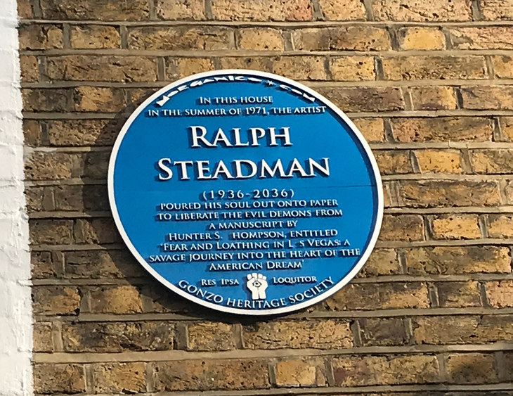 Ralph Steadman plaque