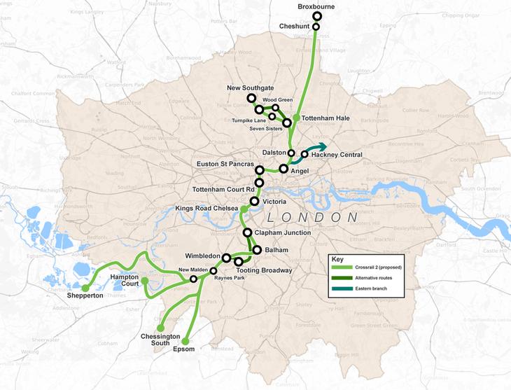 Crossrail 2 route