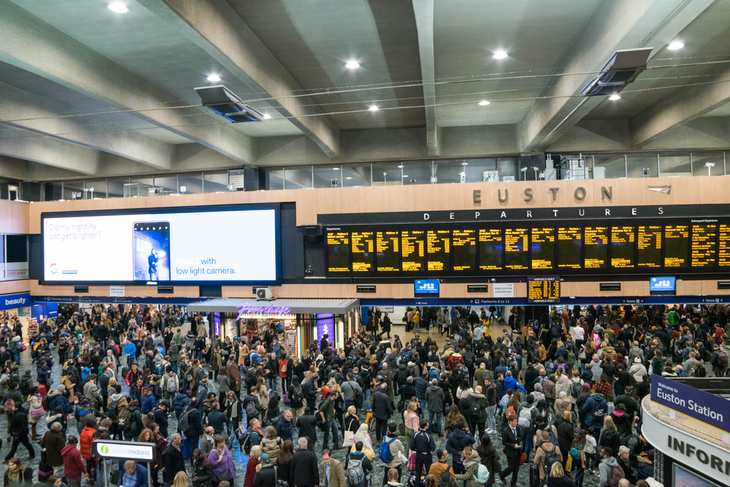 A crowded Euston station. Not on many people's 1000-places to see before you die.