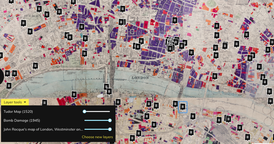 Map Over London.Was Your Street Bombed In The War Find Out With This Interactive