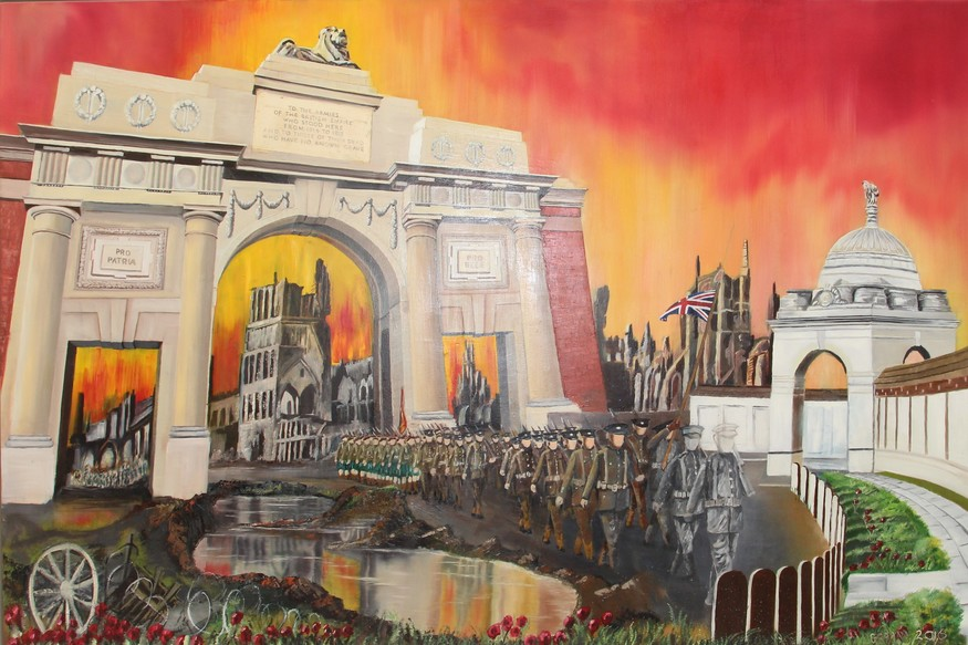This Chelsea Pensioner Has Painted Some Awe-Inspiring WWI Artworks