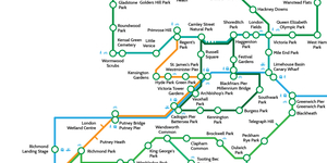 The Greenground: A Tube Map Of Parks And How To Get Between Them