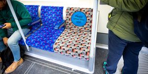New Priority Seating Moquette Installed On The Tube From This Week