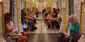 The Blingiest Tube Carriage You'll Ever See