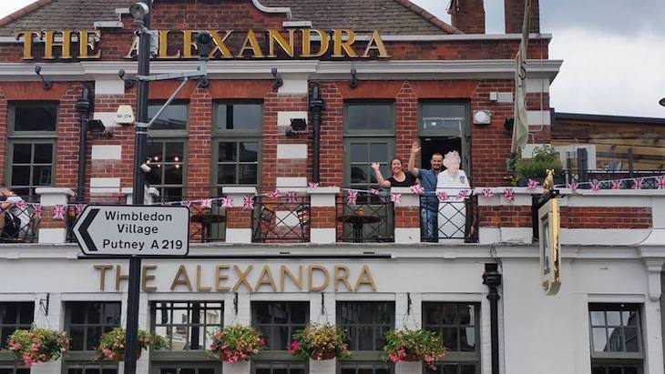 A great pub garden can be found at The Alexandra in Wimbledon