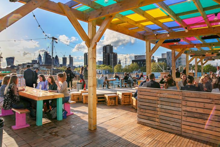 Skylight rooftop bar in London
