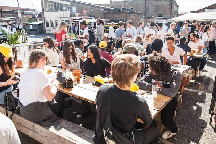 Sun, beer and good times at one of the best pub gardens in London: Crate Brewery