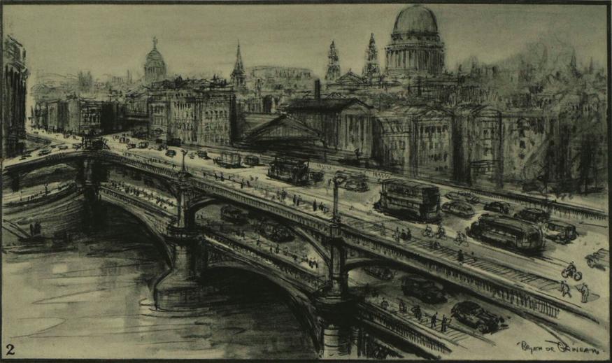 A double-decker Blackfriars Bridge.