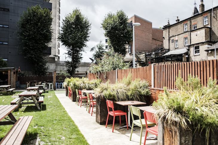 Drayton Court Hotel has one of the nicest pub gardens in London