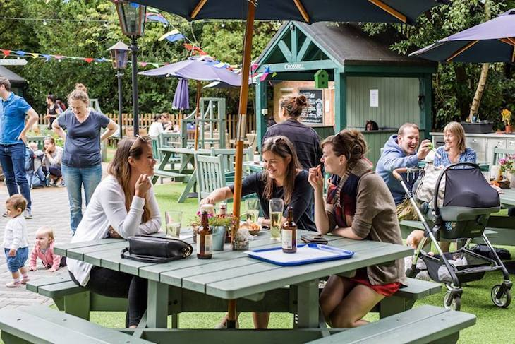 One of London's best beer gardens can be found at Dulwich's Wood House pub