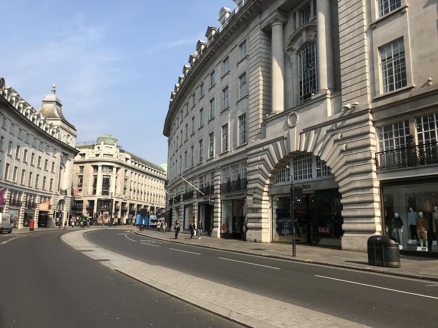 Regent Street empty