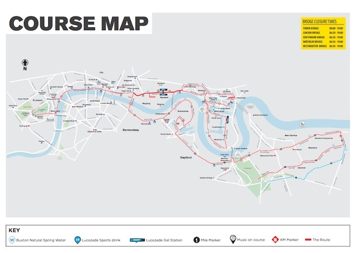 London Marathon 2019 route map: where to watch the race.