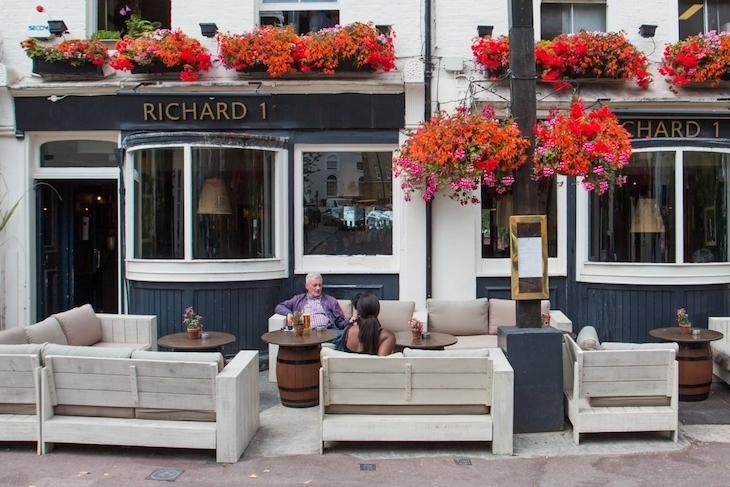 Richard I in Greenwich has one of London's best pub gardens