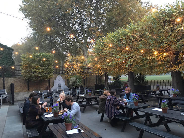 One of London's best beer gardens can be found at Royal Inn on the Park