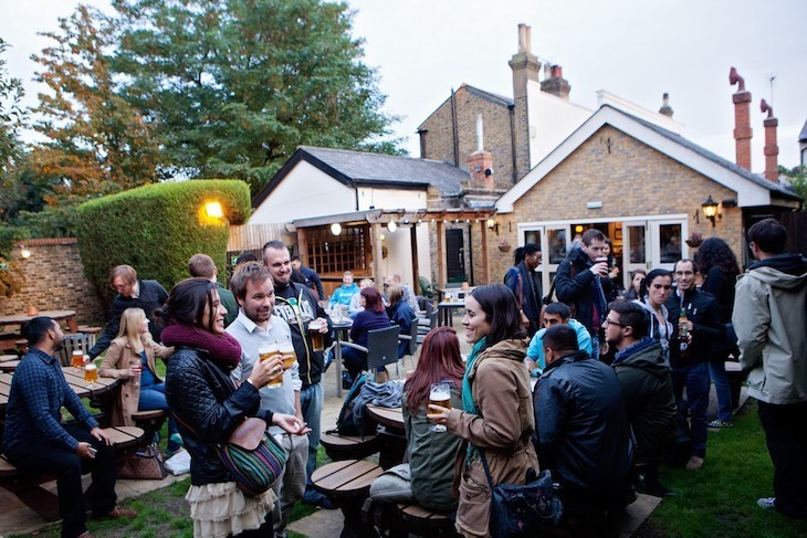 The Builders Arms in Croydon boasts one of the best beer gardens in London