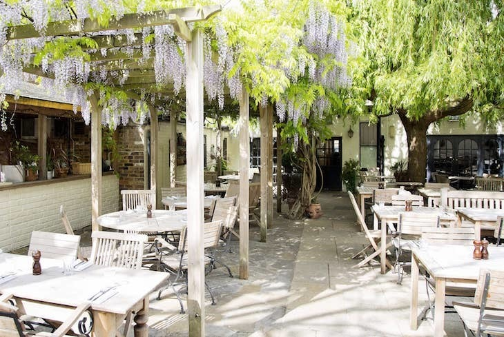 One of London's prettiest pub gardens can be found at The Albion
