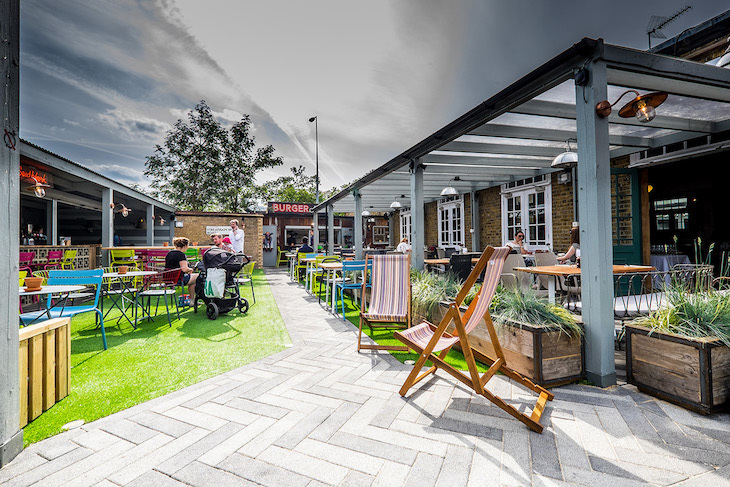 The Bull in Streatham has a large beer garden, one of London's best
