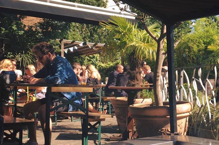 One of London's best beer gardens is in Clapham, at The Falcon pub